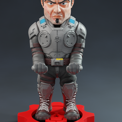 Add Watermark20200808042807 (2).png Download STL file Gears of War Marcus  • 3D printer object, RCM3D