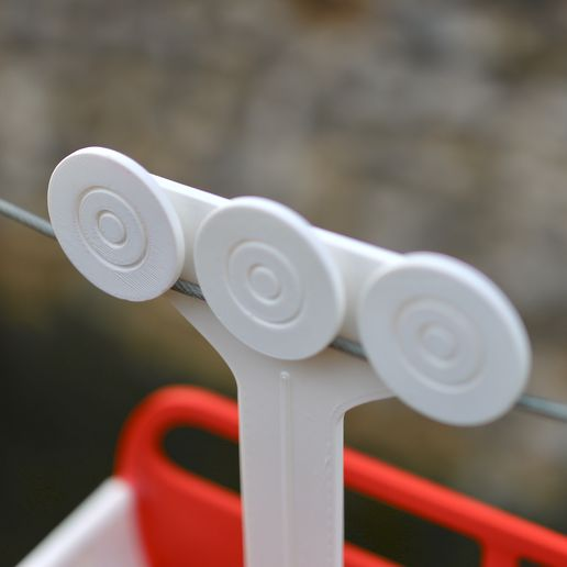 05.jpg Download STL file Cable Car Clothespin Carrier • Template to 3D print, Baablebrox