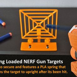 target-main_display_large.jpg Download free STL file Spring Loaded Target for NERF Gun Fun! • 3D printable template, Muzz64