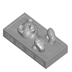 TBCside.png Download free STL file Carbonite Encased Teddy Bear w/ Optional Control Panels and 2 Stands • Model to 3D print, ToaKamate