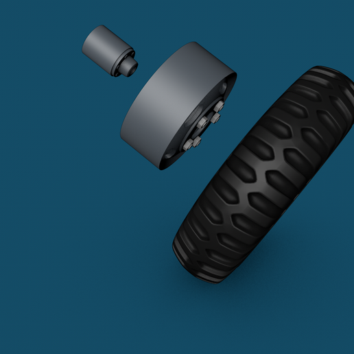 Roda_escala_Certa3.png Download free STL file Wheels to Dodge wc53 - wc54 and WC52 1/16 Scale rim and tire • 3D print template, ONE16Customs