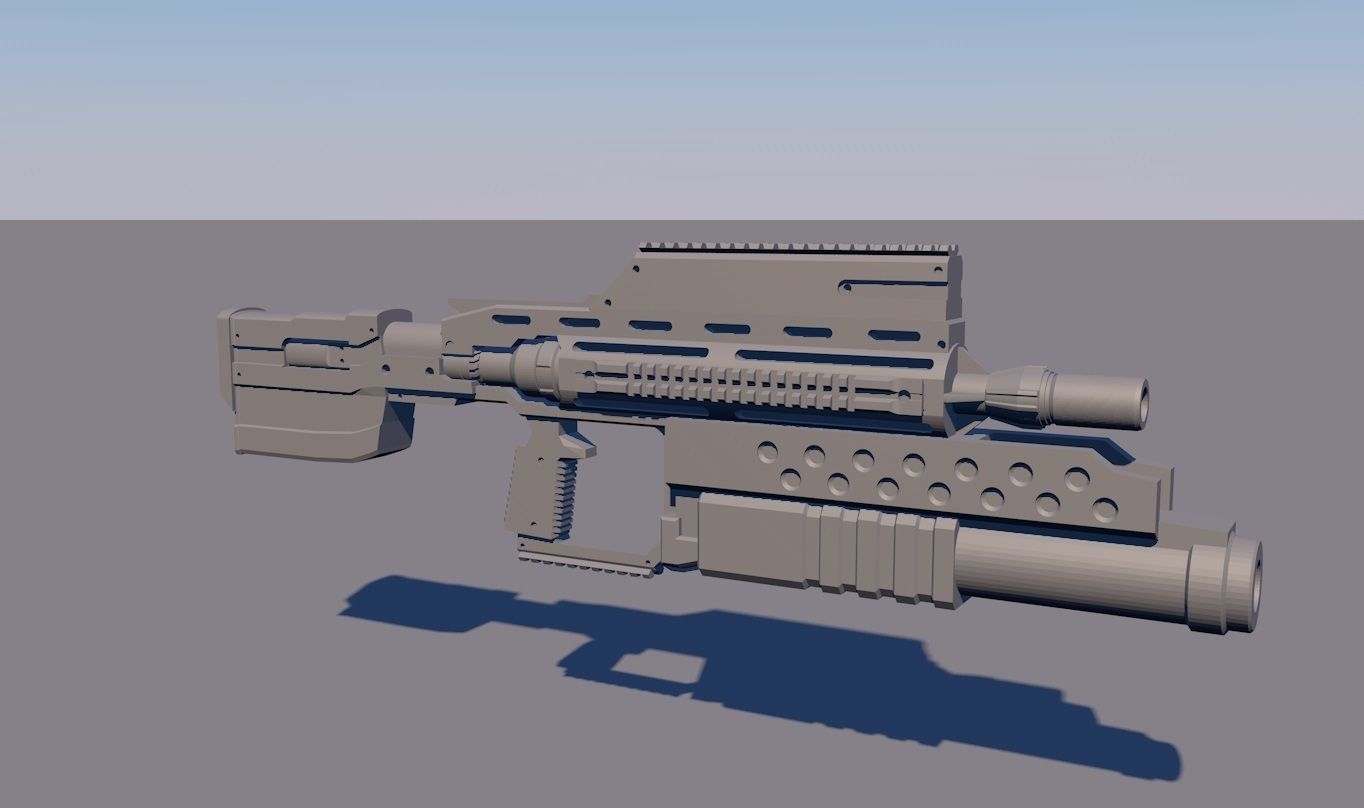 4.jpg Download OBJ file STARSHIP TROOPERS ASSAULT RIFLE + accessories • Template to 3D print, navedeguerraa