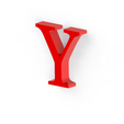Y2.png Download free STL file Letras / abecedario completo • Object to 3D print, Lubal