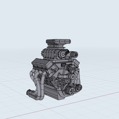 671.png Download STL file Roots GM 10/71 Blown BBC Outlaw Engine Supercharged Pro Mod • 3D printing template, MCSDesign