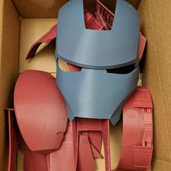 IMG_20190324_145725_1.jpg Download free STL file Iron Man Mark III Helmet Separated and Oriented • 3D printer template, KerseyFabrications