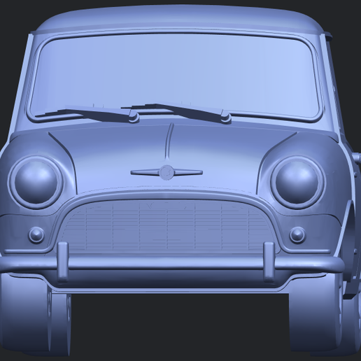 16_mini_168mm_for_staplesB09.png Download free STL file Morris Mini Minor Mark-1 • 3D print object, GeorgesNikkei
