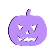 calabaza_scary.stl Download free STL file Halloween elements for scrap-booking and other crafts • 3D printable object, TomasLA