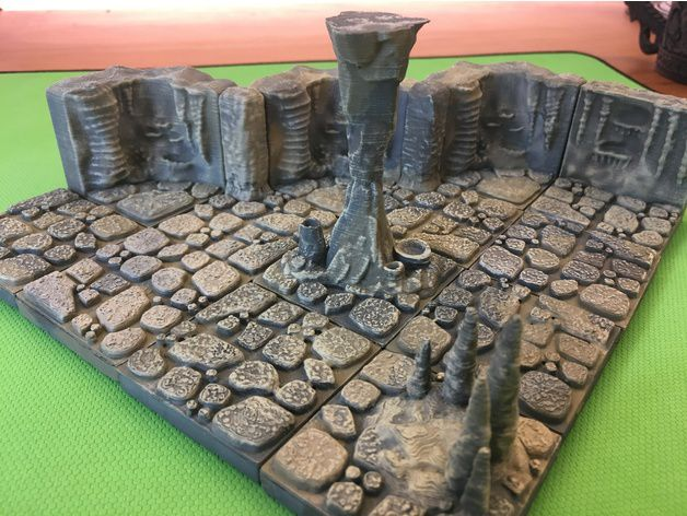 a5124a2215117d176c5307119371a0bd_preview_featured.JPG Download free STL file Cavern Pillars (openforge 2.0 compatible) • 3D printable design, Poxos