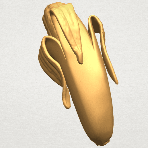 TDA0577 Banana 02 A03.png Download free STL file Plátano 02 • 3D printer object, GeorgesNikkei
