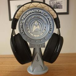 20200729_223058.jpg Download free STL file Star Trek Headphone sStand • 3D printer model, 3DPrintBunny