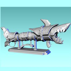 j1.jpg Download STL file Jinx Fishbones Bazooka for print • 3D printer model, 3Dmoonn