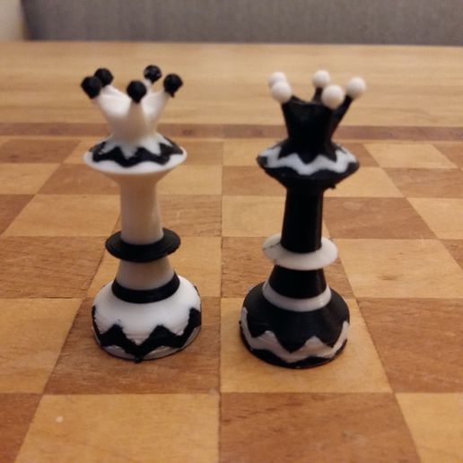 picture (13).jpg Download STL file Dual Color Chess Set • Object to 3D print, Janis_Bruchwalski