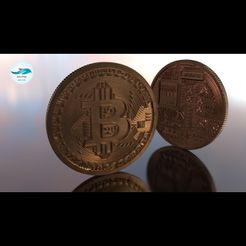 Image000.jpg Download STL file Bitcoin • 3D printing template, DolphinStudio