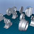 2020-06-20_14-15-56.png Download free STL file Action Camera Universal Mount set • Model to 3D print, 1001thing3d