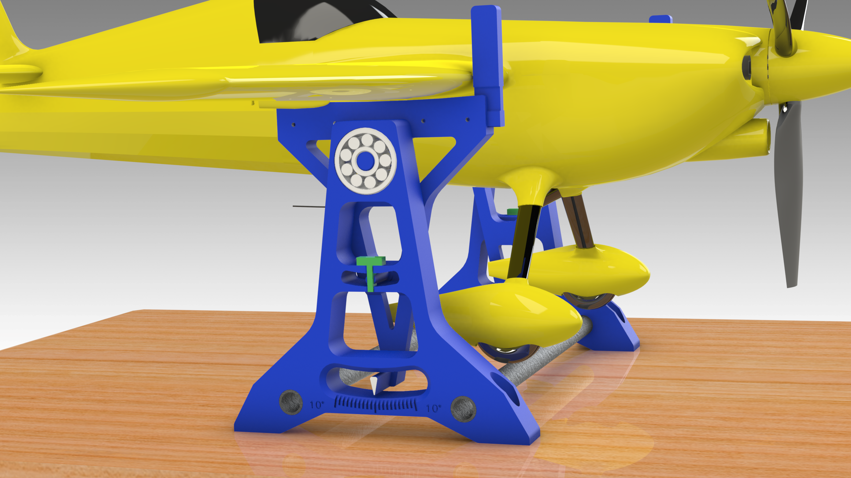 Untitled-769.png Download STL file HEAVY DUTY  Center of Gravity Balance for MEDIUM TO LARGE RC Airplanes • 3D printer model, Trikonics