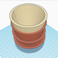 Screenshot (30).png Download free STL file Layered Pot for Extra Flowers • Template to 3D print, 25caih