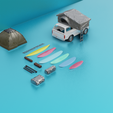0092.png Download STL file CAMPING AND SURF DETAIL PACK - 13oct - 01 • 3D printing model, Pixel3D