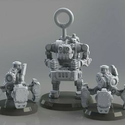 operator_w_drones.jpg Download free STL file Greenskins RC Widow Mine • Design to 3D print, AgentSmith99