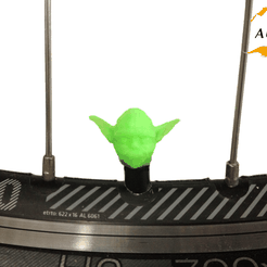 bike yoda.png Télécharger fichier STL Yoda Bicycle Tyre Caps Bike Car Van Truck Valve Valve Wheel Star Wars Star Wars • Modèle pour imprimante 3D, Custom3DPrinting