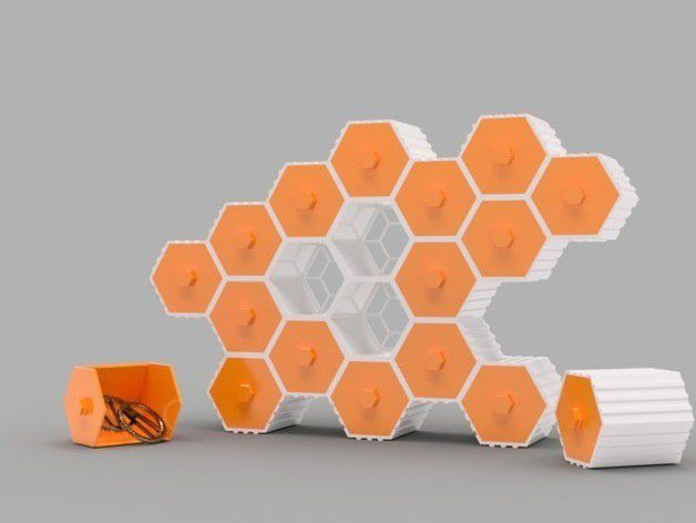 50e83b406a014210caaae013c658502e_preview_featured.jpg Download STL file The HIVE - Stackable Hex Drawers • Design to 3D print, O3D