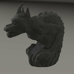 gargouille3a.png Download free 3MF file gargoyle inspired by  Cathedral Notre Dame from Paris • 3D printer model, MisterDiD