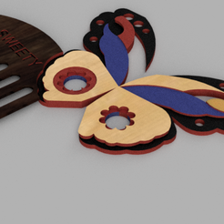 Peine mariposa v2.png Download free STL file butterfly Comb • 3D printable object, sallyfloricelda16
