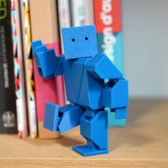robotblue.png Download free STL file Action Robot • 3D printer object, leFabShop