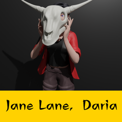 jane.png Download STL file Jane Lane from Daria • Object to 3D print, FenixYeshua