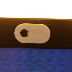 cache_webcam_1.jpg Download free STL file Webcam cover on laptop screen • Object to 3D print, renaud59