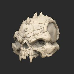 SkullHuge.jpg Download free STL file Giant Demon Skull • 3D print design, CharlieVet