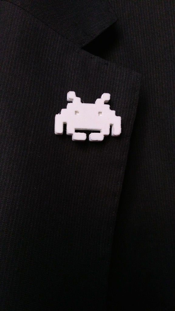 3854918054e077682b726bfb55c31406_display_large.jpg Download free STL file Space Invaders lapel pin • Design to 3D print, sergioinglese