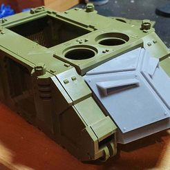 """20210402_215120.jpg Download free STL file Rhino FrontPlate """"Captain MAGPike Nose"""" • Template to 3D print, Auroch"""