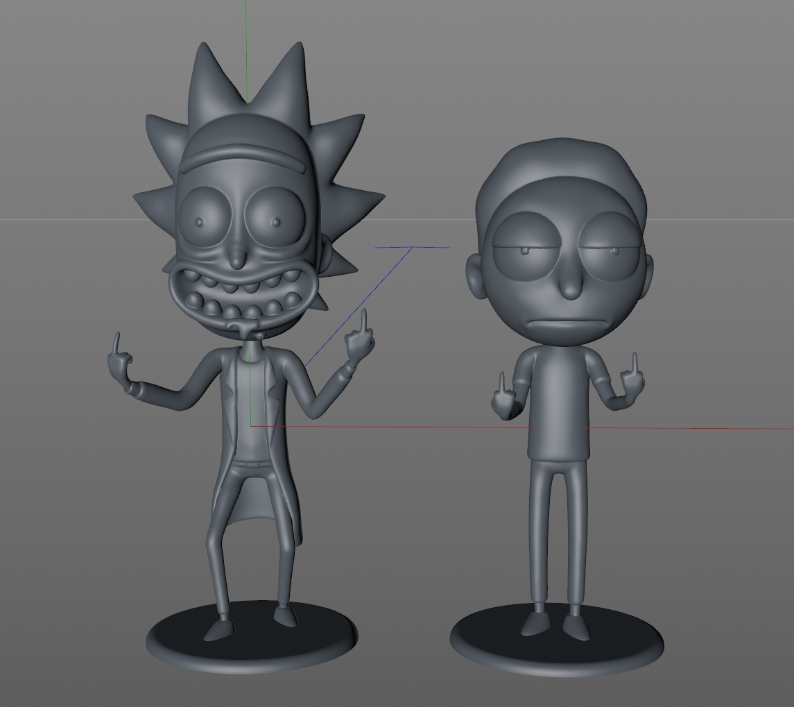 """Captura Rick y Morty.PNG Download free STL file Morty from """"Rick and Morty"""" • 3D printable object, dukedoks"""