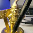 Knome_4.jpg Download STL file Stylus Gnome Holder • Object to 3D print, PrintThatThing