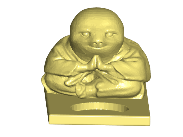 STfront.png Download free STL file Sloth Buddha Tealight Candle Holder • 3D printer model, ToaKamate