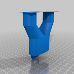ConnecteurDouble_sans_support.png Download free STL file Easybreath dual output adapter - covid19 - fast print -no support material • 3D printable object, Gilles_Tsr