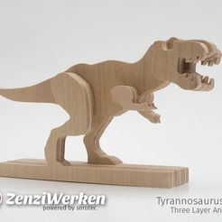 13dc60b2d80da3f0538be97bb0732940_display_large.jpg Download free STL file Tyrannosaurus-Rex 3-layered-animal cnc/laser • 3D printable template, ZenziWerken