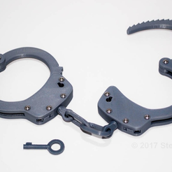 Capture d'écran 2017-08-17 à 18.13.22.png Download free STL file Realistic Handcuffs • Template to 3D print, sthone