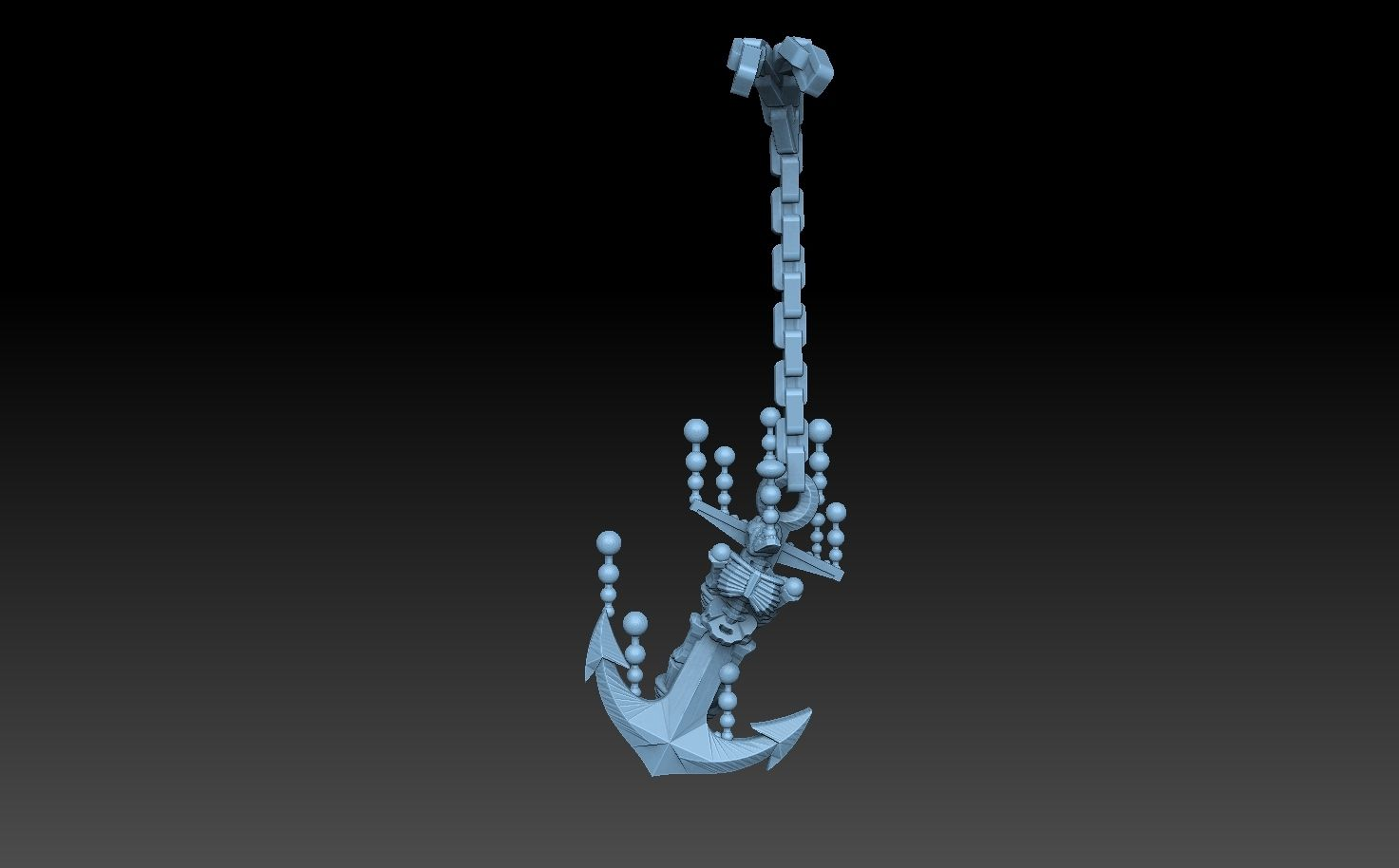 anchor skeleton bubbles no base.jpg Download STL file Undersea Bases Stems and Terrain 28mm • 3D printing object, SharedogMiniatures
