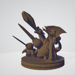 Captura.PNG Download free STL file Pokemon trainer final smash trophy • Template to 3D print, guillera
