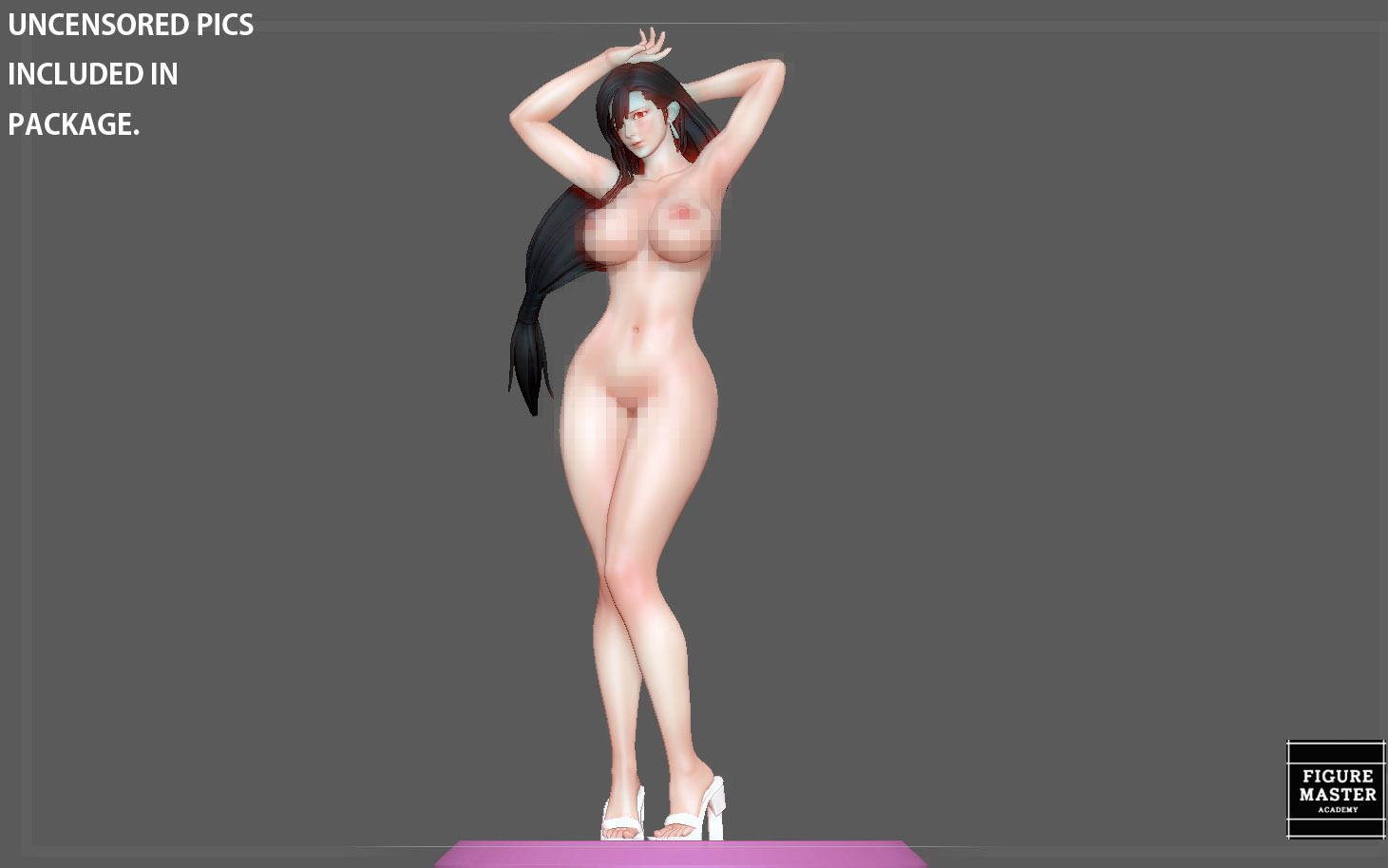 28.jpg Télécharger fichier STL TIFA SEXY NAUGHTY NAKED HENTAI VERSION FINAL FANTASY CHARACTER ANIME STATUE 3D MODEL • Objet pour impression 3D, figuremasteracademy