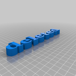 deleted.png Download free STL file to delete 2 • 3D printer object, DasMia