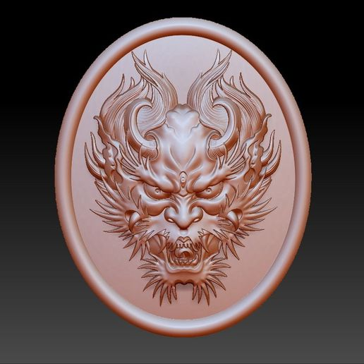 DragonHead.jpg Download free OBJ file dragon head pendant • 3D printing design, stlfilesfree