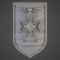 black_templars_ss1.RGB_color.0001.jpg Download OBJ file Crusaders of the Cross Knight Shields • 3D print design, BitShapers
