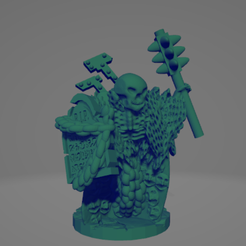 Headstone Wraith With Spiked Club.png Download STL file Headstone Wraith With Spiked Club • Model to 3D print, Ellie_Valkyrie