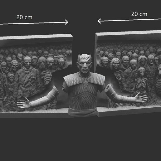 ZBr6666ush Document.jpg Download STL file Game of Thrones - Night King - Hardhome Relief • 3D printing model, brkhy
