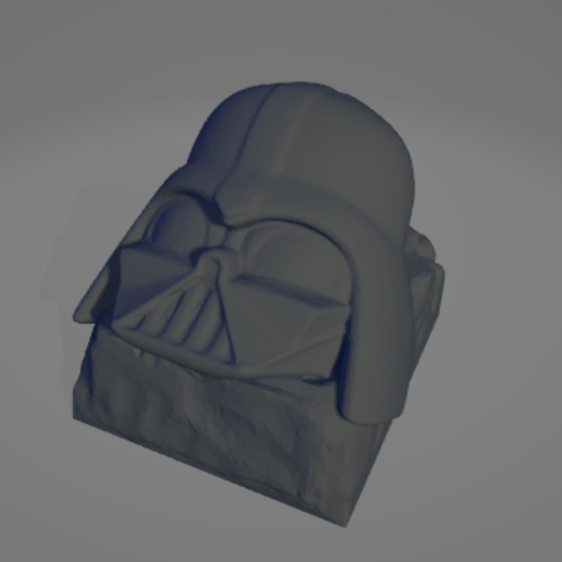 1.png Download STL file Keycap Darth Vader • Template to 3D print, 1340Factory
