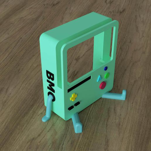 BMO_Stand(assembled).jpg Download file BMO Stand for Nintendo switch • Object to 3D print, Shigeryu