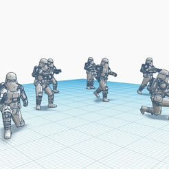 Snowtroopers_Pack_1.png Download free STL file Snowtrooper Battle poses; Pack 1 • 3D printable design, Straekers_Armory