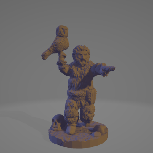 Beard-Owl-Hunter.png Download STL file Ice Age Nocturnal Hunter • 3D printable object, Ellie_Valkyrie